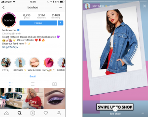 Instagram Stories Highlights on Boohoo