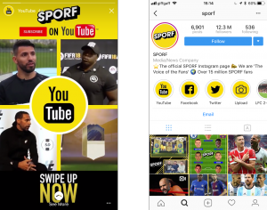 Instagram Stories Highlights on Sporf
