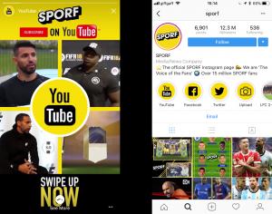 Instagram Stories Highlights on Sporf